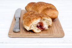 Croissant  on board Stock Images