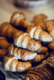 Croissant bread on buffet line Stock Image