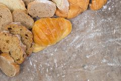 Croissant and bread royalty free stock images