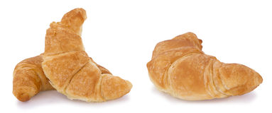 Croissant bread isolated on white background. Stock Photos