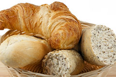 Croissant with bread rolls Royalty Free Stock Photo