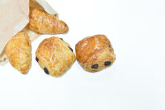 Croissant bread Stock Images