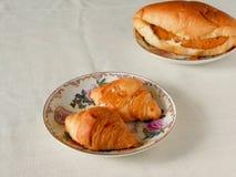 Croissant breads breakfast Stock Image