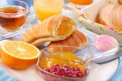 Croissant for breakfast Stock Image