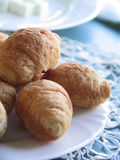 Croissant for breakfast Stock Photography