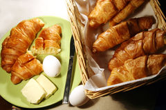 Croissant breakfast Stock Photography