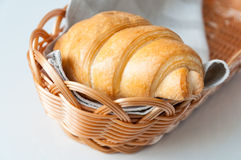 Croissant for breakfast Stock Image