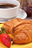 Croissant for breakfast. Royalty Free Stock Images