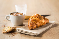 Croissant breakfast Royalty Free Stock Photo