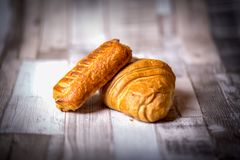 Croissant for breakfast stock photos