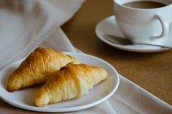 Croissant for Breakfast. Fresh butter croissant for coffee break on breakfast Stock Image