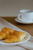 Croissant for Breakfast. Fresh butter croissant for coffee break on breakfast Stock Photos