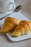 Croissant for Breakfast. Fresh butter croissant for coffee break on breakfast Royalty Free Stock Photo