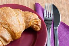 Croissant breakfast Stock Image