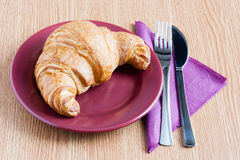 Croissant breakfast Royalty Free Stock Photos
