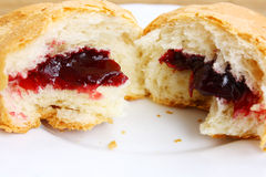 Croissant broken half-and-half stock photo