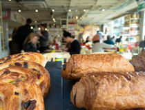 Croissant & caffè (2) Fotografia Stock Libera da Diritti