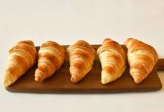 Croissant caseiros frescos Foto de Stock Royalty Free
