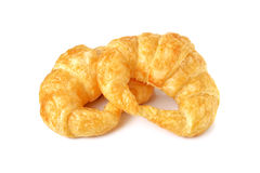 Croissant with cheese on white Royalty Free Stock Image