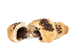 Croissant with chocolate Royalty Free Stock Photos