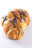 Croissant with chocolate Royalty Free Stock Photography