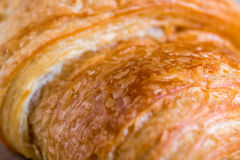Croissant close up view in the bakery Royalty Free Stock Images