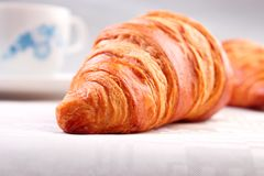 Croissant closeup Royalty Free Stock Photo