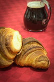 Croissant with coffè Stock Image