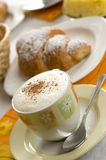 Croissant and Coffee Royalty Free Stock Images
