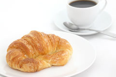 Croissant with coffee Royalty Free Stock Photos