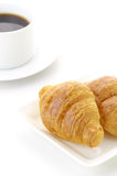 Croissant with coffee Stock Photo