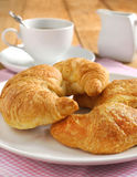 Croissant with coffee Royalty Free Stock Image
