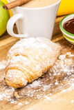 Croissant with coffee Stock Photos