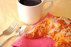Croissant with coffee cup Royalty Free Stock Photo