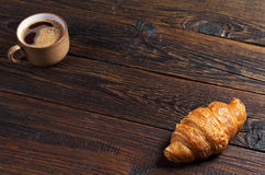 Croissant and coffee Stock Photography