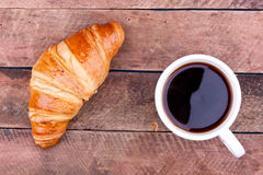 Croissant and coffee Royalty Free Stock Photography