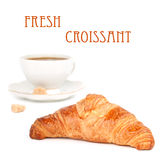Croissant and coffee Royalty Free Stock Photo