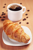 Croissant with coffee Royalty Free Stock Images