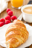 Croissant with coffee Stock Photography
