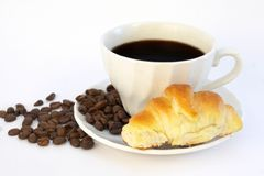 Croissant and coffy Stock Photography