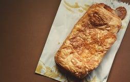 Croissant com Ham Areal View fotos de stock