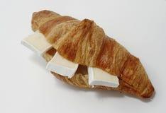 Croissant con Brie fotografia stock