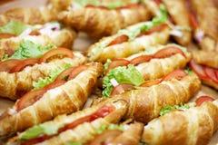 Croissant con carne fotografia stock libera da diritti