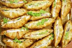 Croissant con carne immagini stock libere da diritti