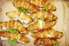 Croissant con carne fotografie stock libere da diritti
