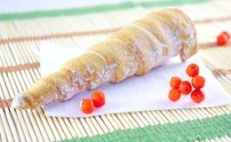 Croissant con crema fotografia stock libera da diritti