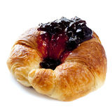 Croissant con el atasco fotografía de archivo