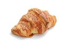 Croissant con formaggio fuso isolato su bianco Fotografia Stock Libera da Diritti