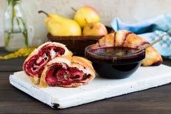 Croissant con inceppamento Fotografia Stock Libera da Diritti