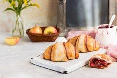 Croissant con inceppamento Immagini Stock Libere da Diritti